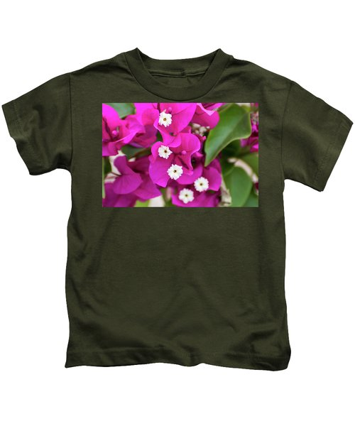 Pink And White Flowers Kids T-Shirt