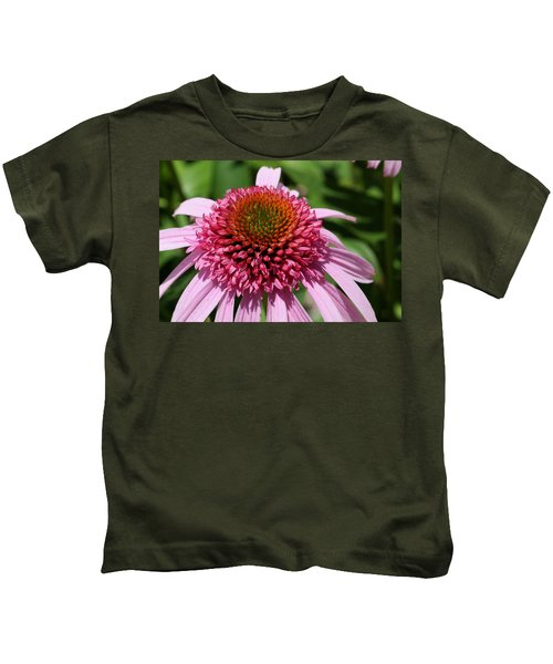 Pink Coneflower Close-up Kids T-Shirt