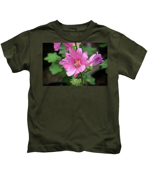 Pink Flower With Bug. Kids T-Shirt