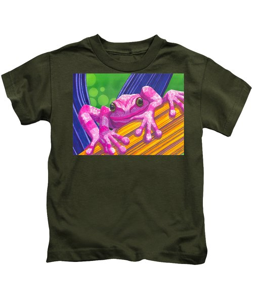 Pink Frog Kids T-Shirt