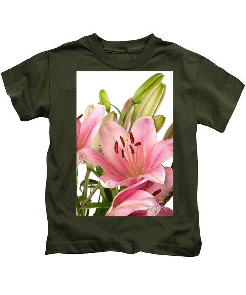 Pink Lilies 07 Kids T-Shirt