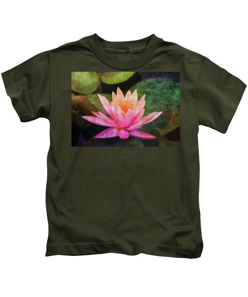 Pink Lotus 4134 Idp_2 Kids T-Shirt