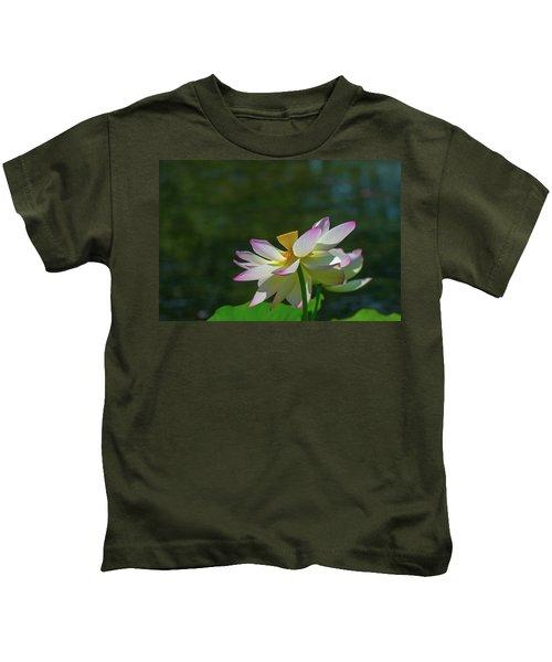 Pink Lotus Embracing The Sun Kids T-Shirt