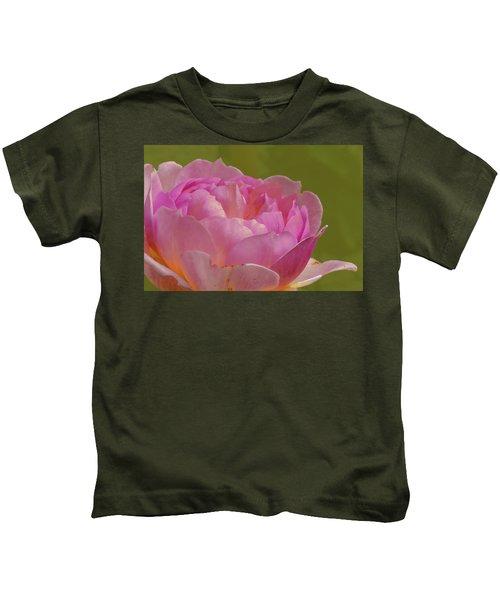 Pink Rose #d3 Kids T-Shirt