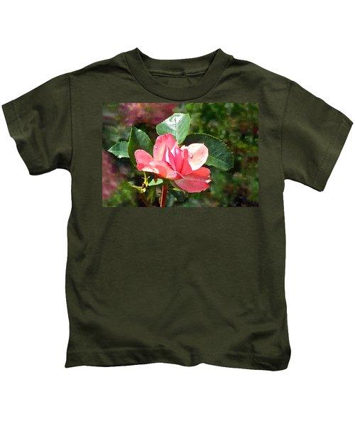 Pink Roses In The Rain 2 Kids T-Shirt