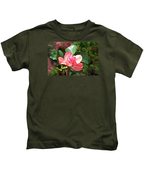 Pink Roses In The Rain 2 Kids T-Shirt