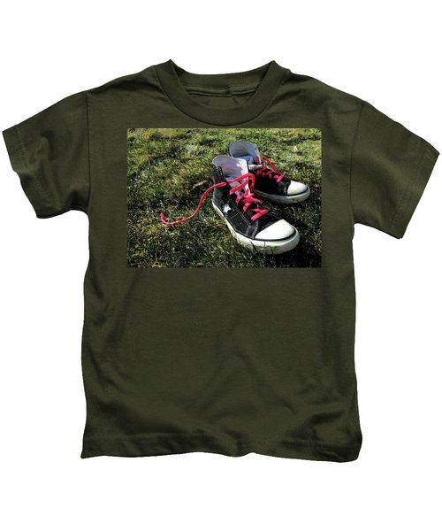 Pink Shoe Laces Kids T-Shirt