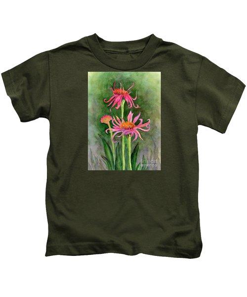 Pink Tutus - Coneflowers Kids T-Shirt