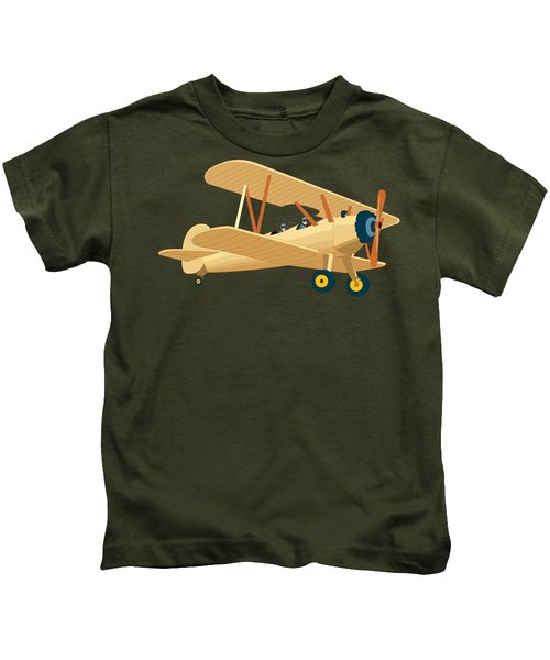 Plane Made With Water Colours Kids T-Shirt