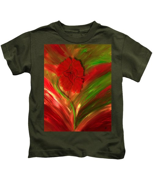 Plume Of Remembrance Kids T-Shirt