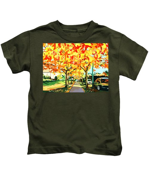 Plumes Of Leaves Kids T-Shirt