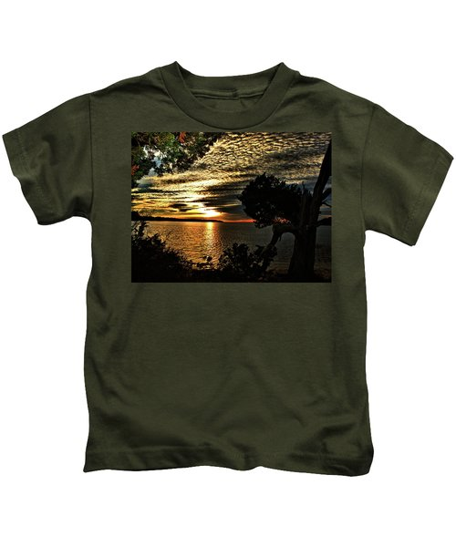Pocasset Sunset Kids T-Shirt