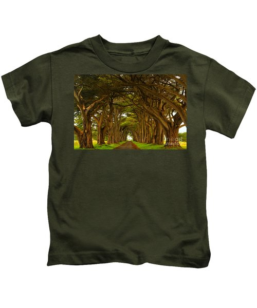 Point Reyes Cypress Tunnel Kids T-Shirt