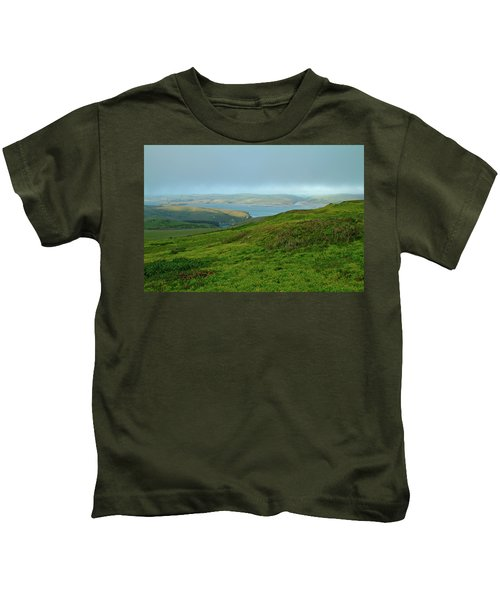 Point Reyes Overlooking Tomales Bay Kids T-Shirt