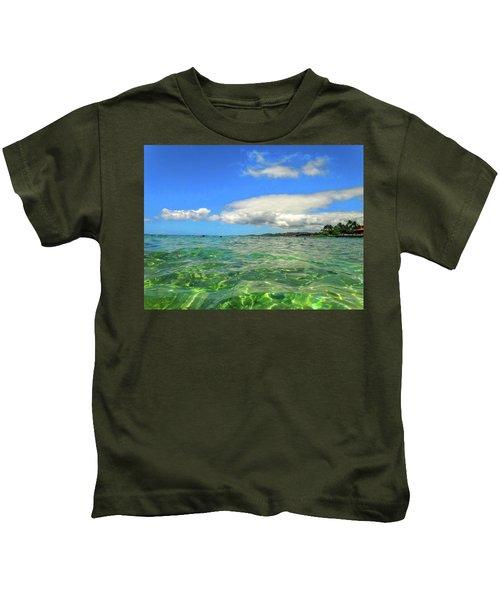 Poipu Beach Kids T-Shirt