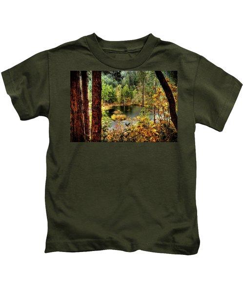Pond At Golden Or. Kids T-Shirt