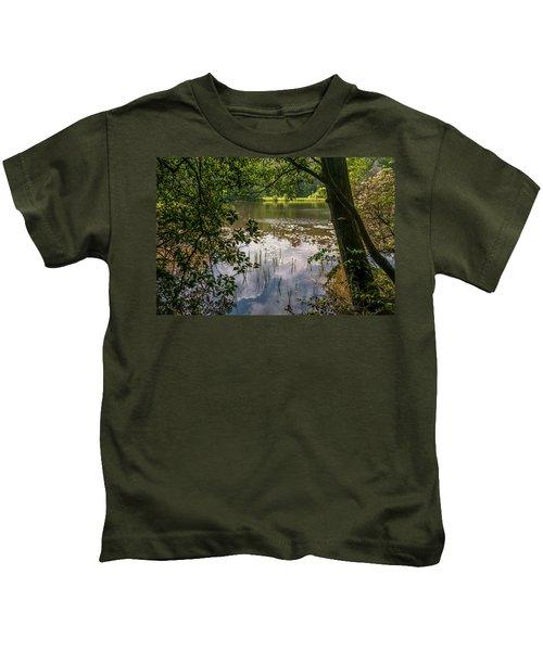 Pond In Spring Kids T-Shirt