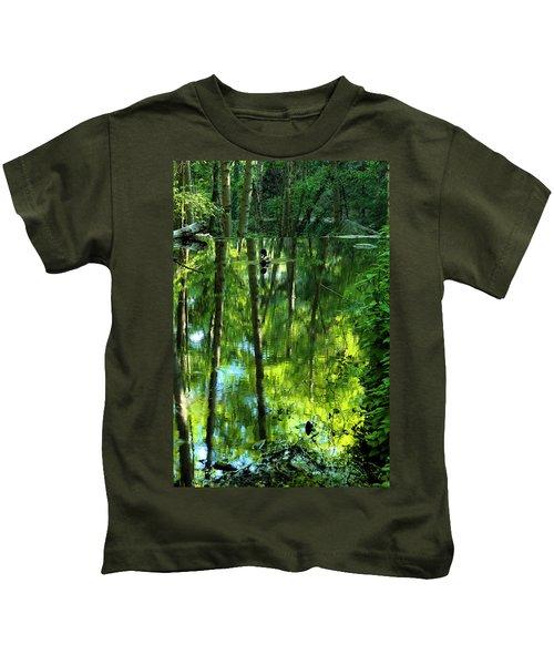 Pond On Gabrielino Trail Kids T-Shirt