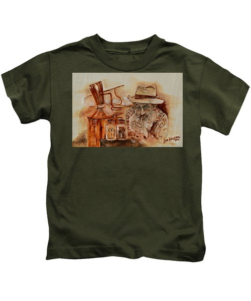Popcorn Sutton - Waiting On Shine Kids T-Shirt