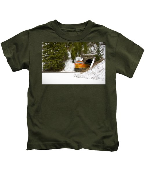 Popping Out Of Tunnel 1012 Kids T-Shirt
