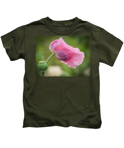 Poppy In The Wind Kids T-Shirt