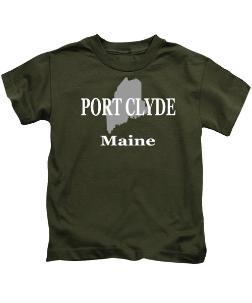 Port Clyde Maine State City And Town Pride  Kids T-Shirt