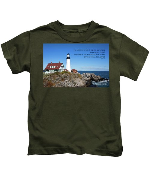 Portland Head Lighthouse Kids T-Shirt