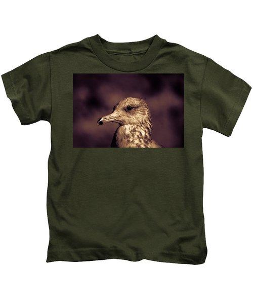Portrait Of A Gull Kids T-Shirt