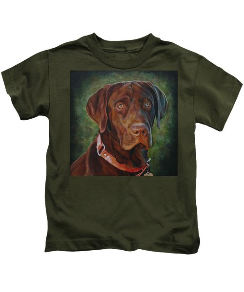 Portrait Of Remington 0094_2 Kids T-Shirt