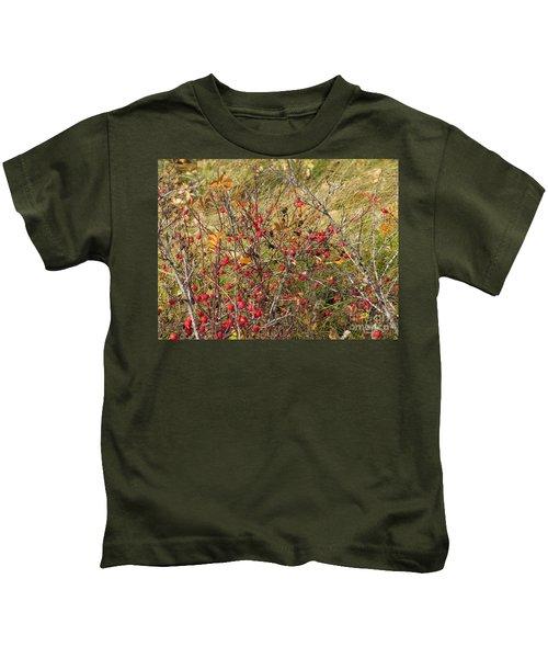 Prairie Rosehips Kids T-Shirt