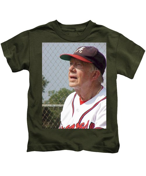 President Jimmy Carter - Atlanta Braves Jersey And Cap Kids T-Shirt