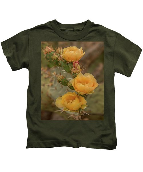 Prickly Pear Blossom Trio Kids T-Shirt