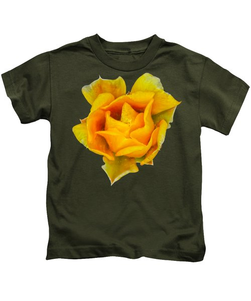 Prickly Pear Flower H11 Kids T-Shirt by Mark Myhaver