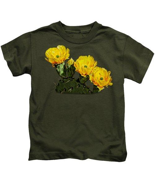 Prickly Pear Flowers Op42 Kids T-Shirt