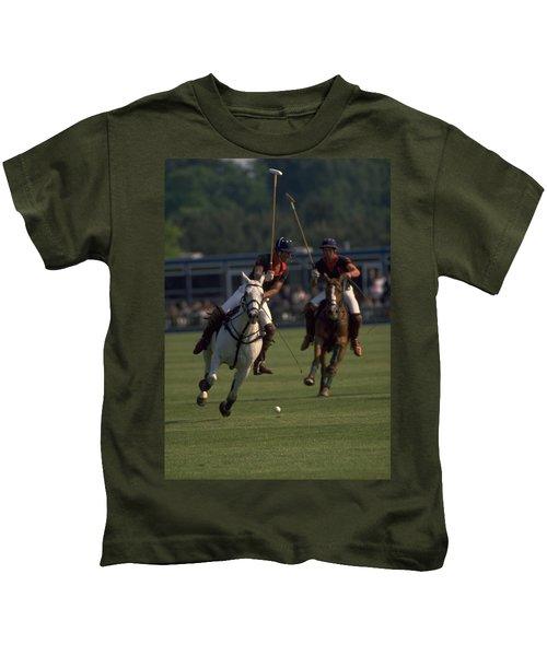 Prince Charles Playing Polo Kids T-Shirt