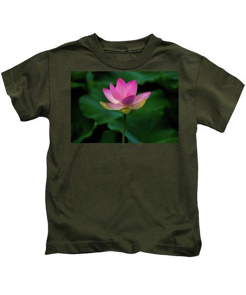 Profile Of A Lotus Lily Kids T-Shirt