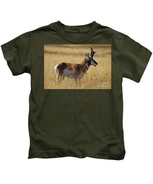 Pronghorn Antelope Kids T-Shirt