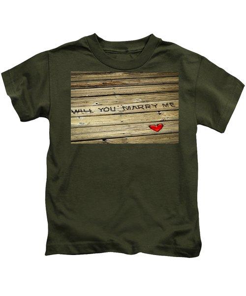 Propose To Me Kids T-Shirt