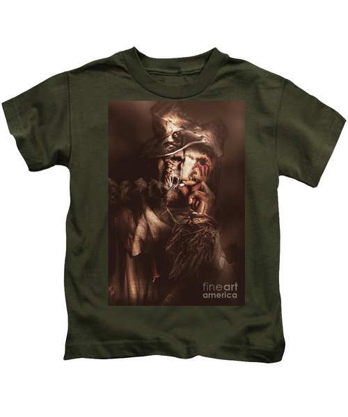 Puffing Billy The Smoking Scarecrow Kids T-Shirt