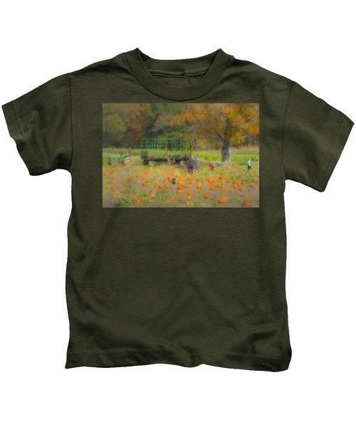 Pumpkins At Langwater Farm Kids T-Shirt
