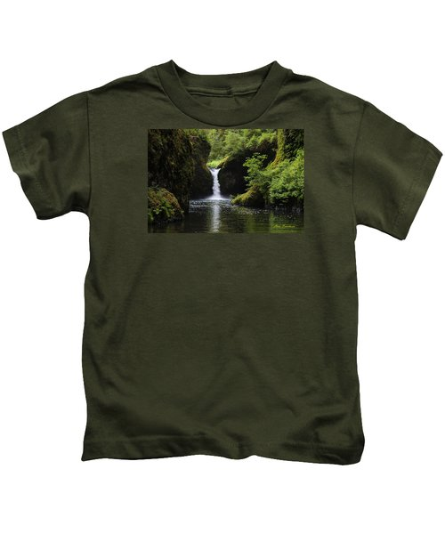 Punchbowl Falls Signed Kids T-Shirt