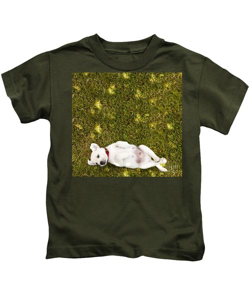 Puppy In The Grass Kids T-Shirt