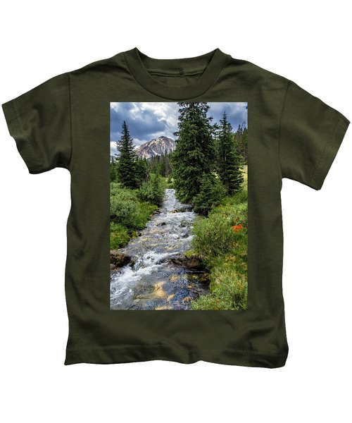 Pure Rocky Mtn. Spring Water Kids T-Shirt
