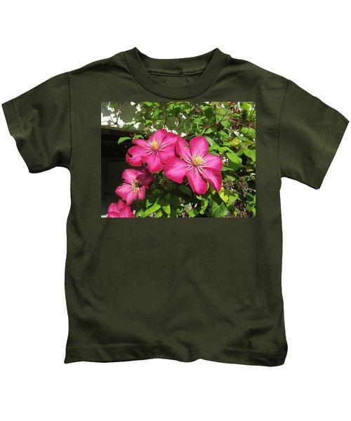 Purple Clematis  Kids T-Shirt