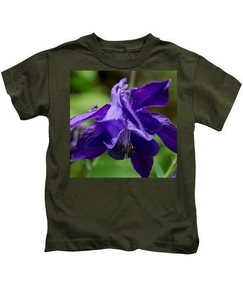 Purple Columbine Kids T-Shirt