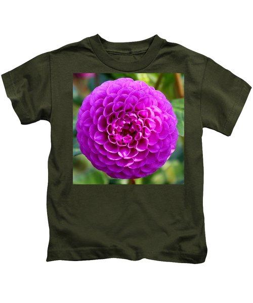Purple Dahlia Kids T-Shirt