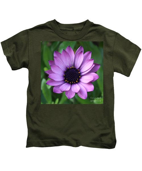 Purple Daisy Square Kids T-Shirt