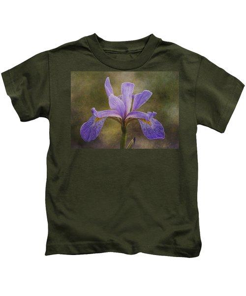 Purple Flag Iris Kids T-Shirt