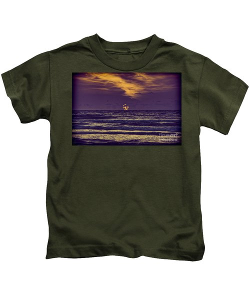 Purple Sunrise Kids T-Shirt