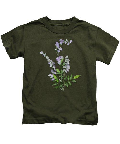 Purple Tiny Flowers Kids T-Shirt